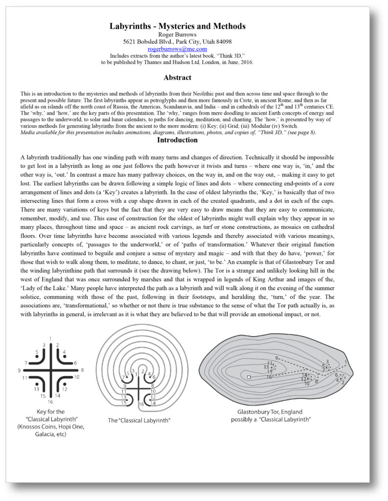 Labyrinths Mysteries and Methods